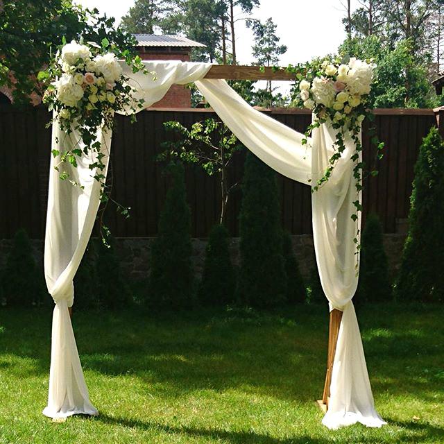 Четырехугольная свадебная арка своими руками 64